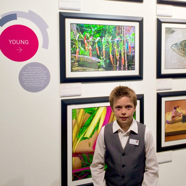 Here you can see Jasper with his 'Carrots on a Line' image, mounted in a OVI frame at the recent awards ceremony in London.