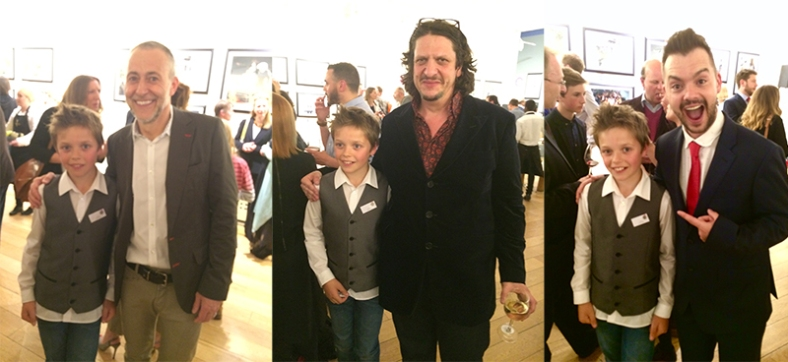 Jasper at the recent awards  night held in London with Judges Michel Roux Jnr, Jay Rayner and Blue Peter's Barney Harwood.