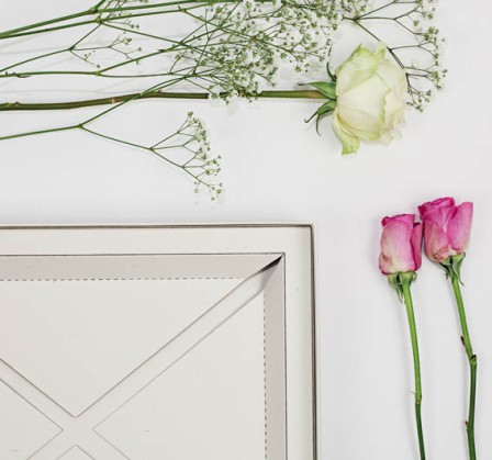 Ivory wedding album box