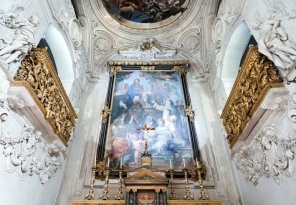 Saint Cita Oratory altar in Palermo, Sicily